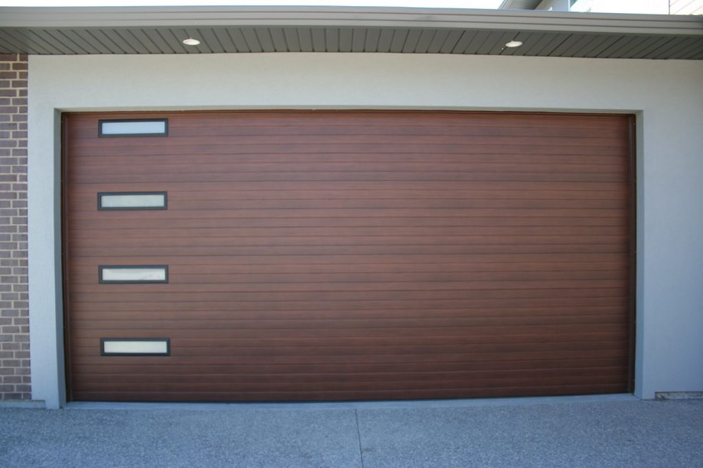 Steelcraft Contemporary Cedar Legacy Garage Doors